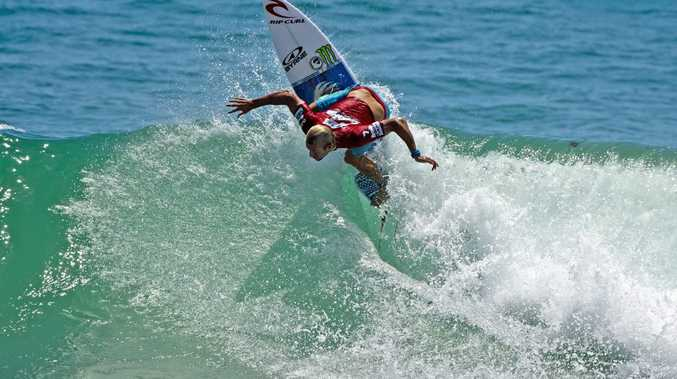 Owen Wright (Lennox Head, NSW), winner of the last QS event at Burleigh in 2013. The Burleigh Pro is back in 2015 with whole new event the Scoot Burleigh Pro on this weekend. Please credit pic to WSL/Will H-S.
