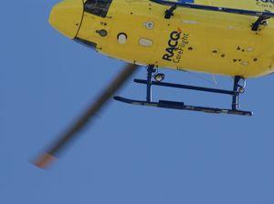 Rescue chopper at Gootchie crash