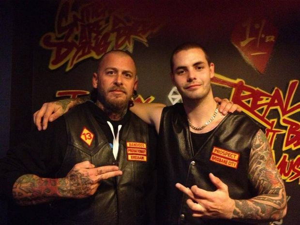 Wannabe bikie Andrew Barton Clarke-Davis (right) from Toowoomba was jailed after police located meth and guns in the vehicle he was travelling in near Ipswich. Picture: Supplied