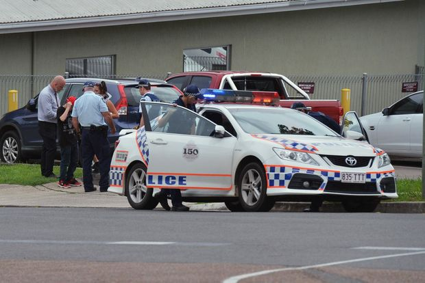 Centrelink Gympie drama with knife weilding person inside Centrelink. Photo: Greg Miller / Gympie Times