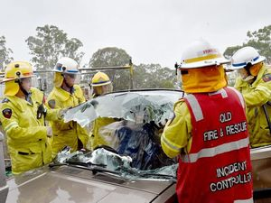 Firefighters at rescue training