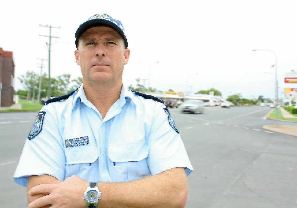 NO NONSENSE: Emerald officer-in-charge Senior Sergeant Peter McFarlane.