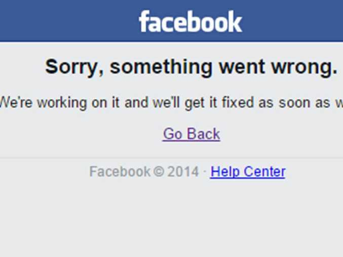 Facebook was down briefly, forcing the entire world to hit the refresh button until it came back online 30 minutes later