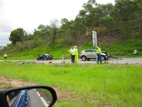 Emergency services responded to a four-car crash on the Pacific Hwy near Pottsville on Tuesday.