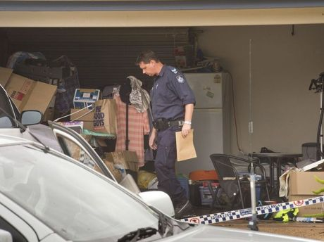 Police search a Gouldson Dr home when bomb-making chemicals were found.