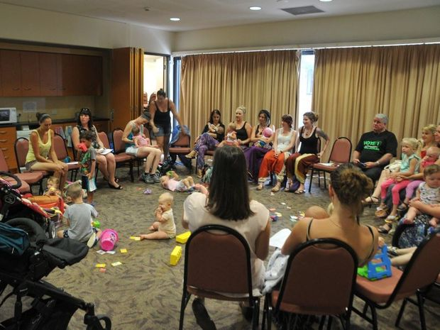 EXPECTING MORE: Mothers and pregnant women from all walks of life shared their birthing experiences and desire to bring more maternity services to Gladstone at a meeting on Wednesday.