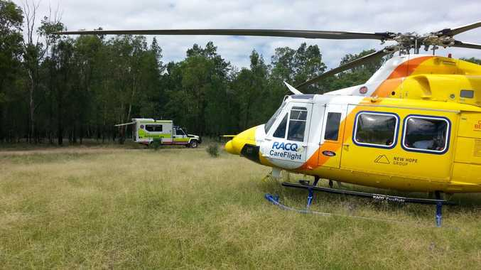 EMERGENCY: CareFlight airlifted a man from a property near Dalby on Thursday.