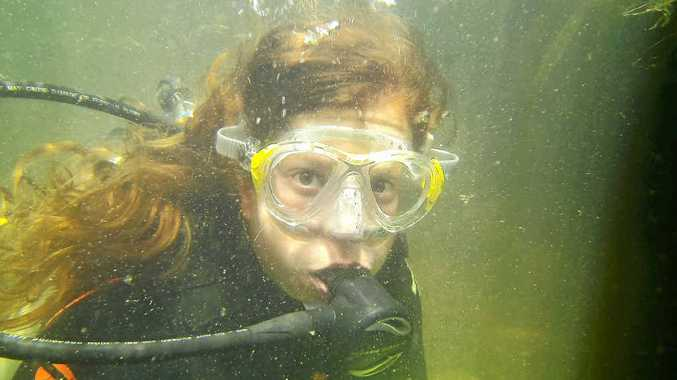 Jess Holla enjoys the Rainforest Scuba experience offered by Luana Royle at Finch Hatton.