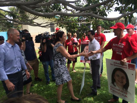 Opposition leader Annastacia Palaszczuk has made another visit to Gladstone today to attend a rally against the privatisation of the port.