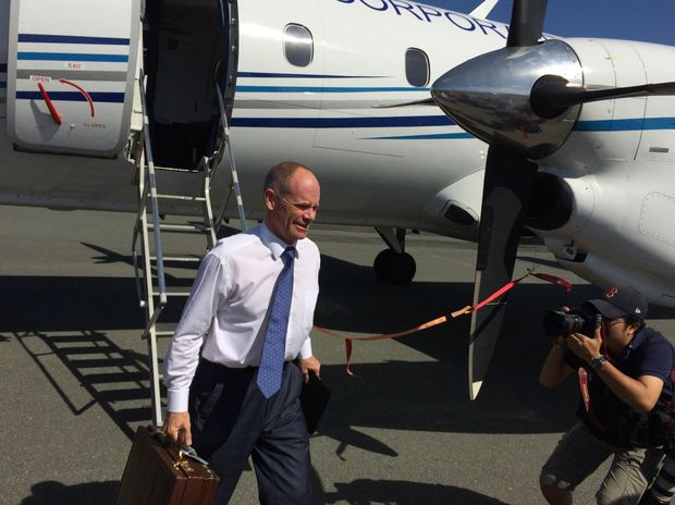Premier Campbell Newman on the election trail