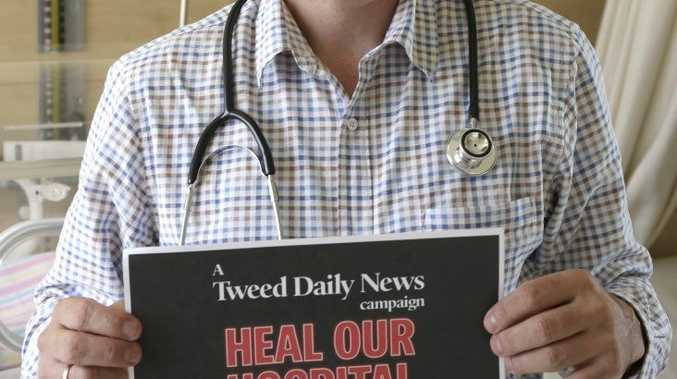 Pediatrics director Dr David McMaster has called on the community for support in the Heal Our Hospital campaign.