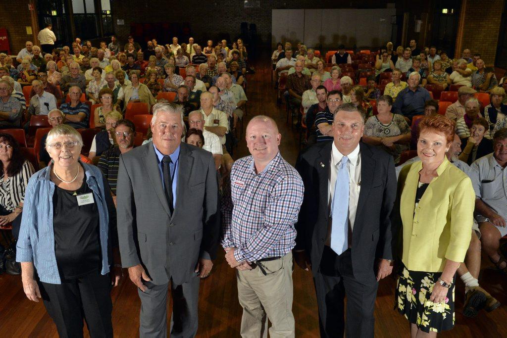 Lockyer's election candidates are Clare Rudkin, Ian Rickuss, Steve Leese, David Neuendorf and Pauline Hanson.
