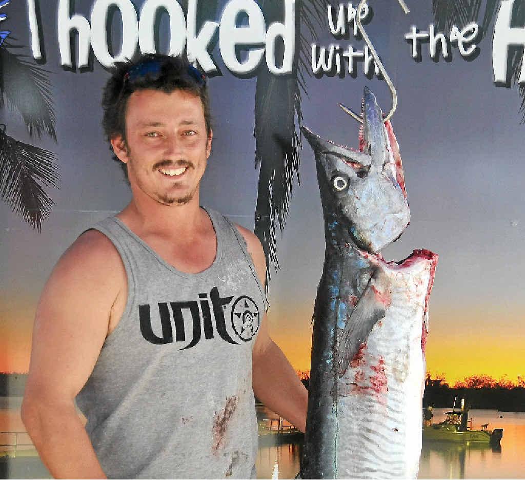 TOP CATCH: A 12kg spanish mackerel caught by Joshua Holbert at last year's Boyne Tannum HookUp.