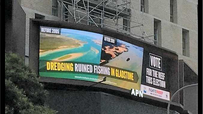 OUR PUBLIC SHAME: A billboard in the Brisbane CBD by the Fight for the Reef campaign is angering local tourist operators.
