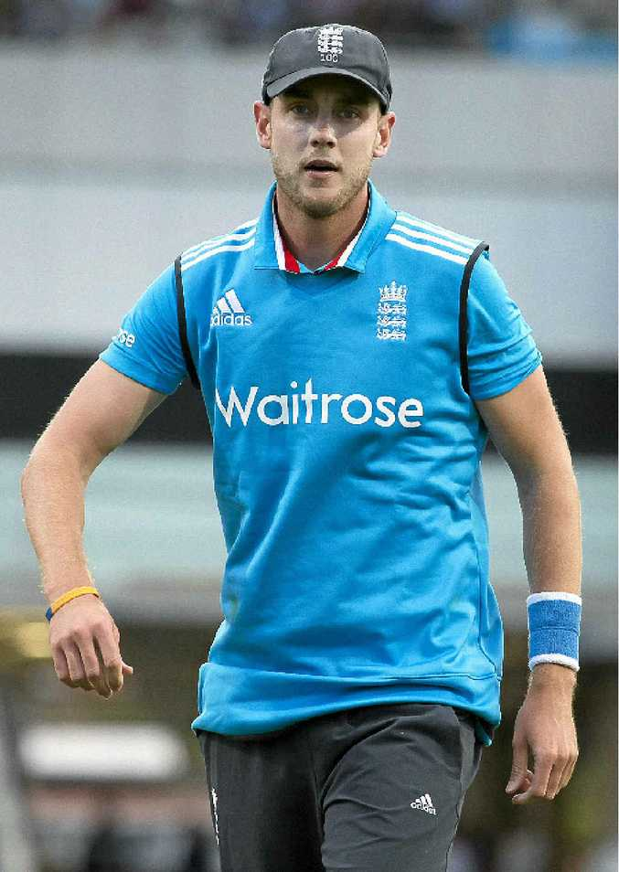 GOING WELL: Stuart Broad says England has got it right with its bowling line-up.