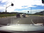 Car flipped onto its roof as ute changes lanes