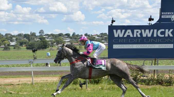 All Troops and Skye Bogenhuber complete an easy victory in today's Two-Year-Old Handicap (1100m) at Allman Park.