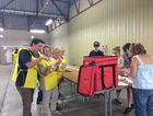 ELECTION DAY: Counting of pre-poll votes has begun at the Woondooma St polling booth. Photo Jim Alouat / NewsMail
