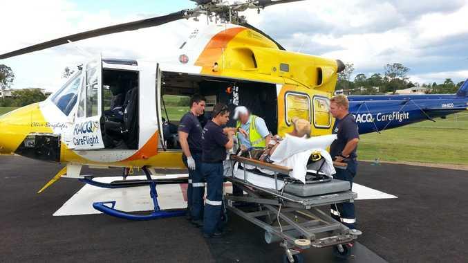 The Toowoomba RACQ CareFlight Rescue crew. Photo RACQ CareFlight Rescue