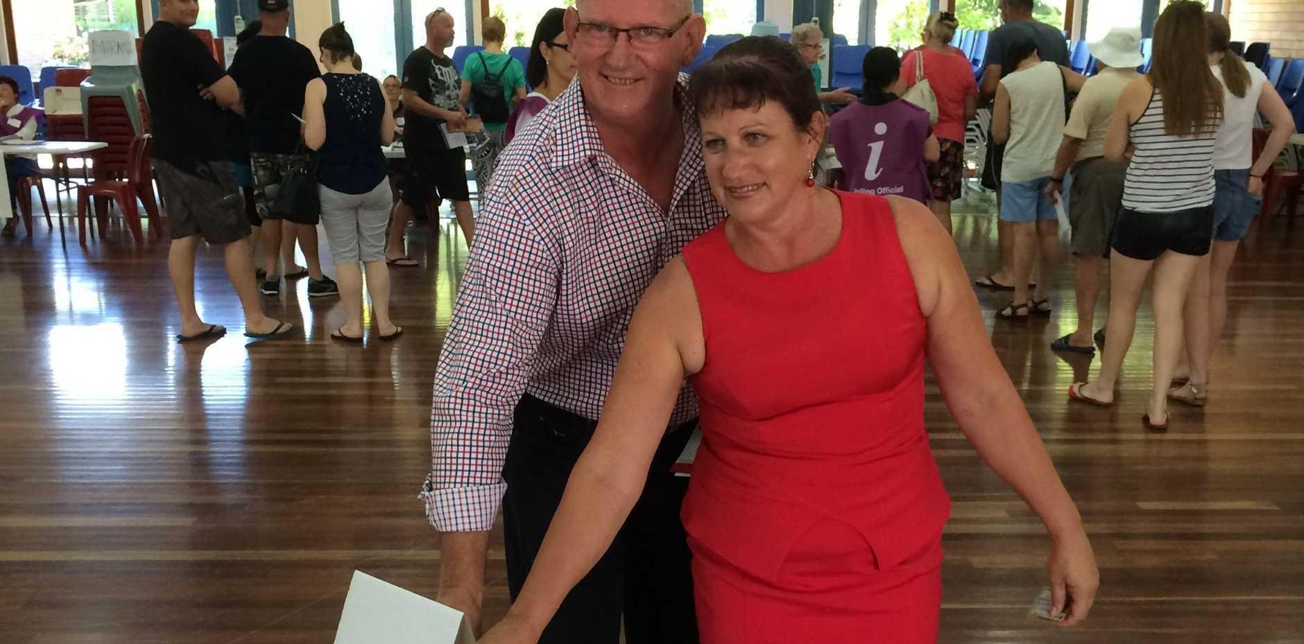 Rockhampton MP Bill Byrne and wife Kim