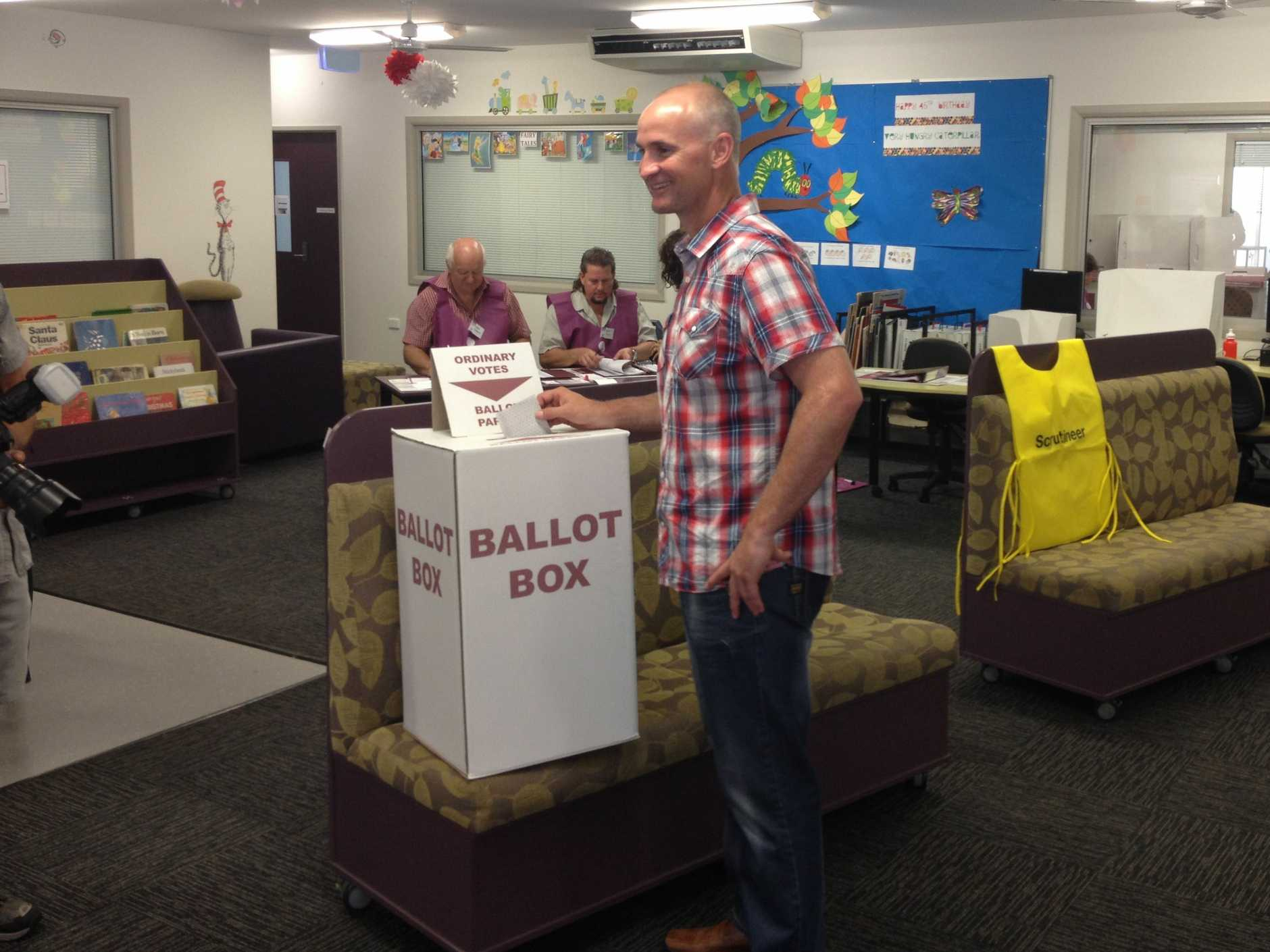 Glenn Butcher votes.