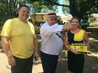 Clive Palmer at Buderim during last year's state election campaign.