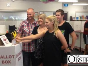 Butcher family first to vote on day