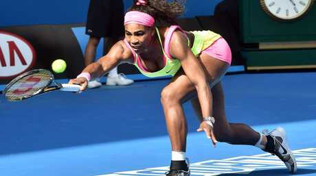 STAR POWER: Tennis luminary Serena Williams of the US plays a shot during her women's singles semi-final match at the Australian Open.