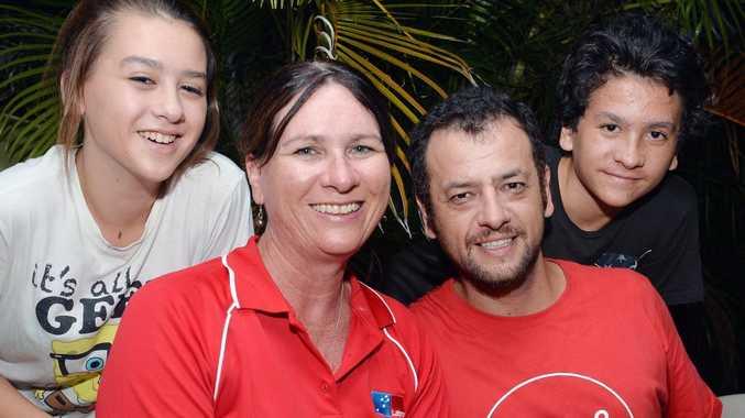 Bronwyn Taha with husband Darin and children Sasha and Aiden.