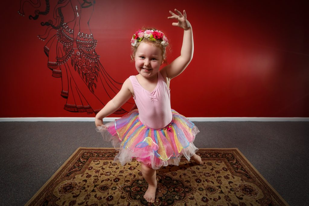 Chiana Taylor-Fox in her pink tutu for World Tutu Day.