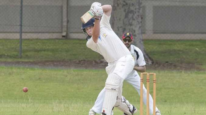Wests batsman Matt Hallas plays a shot as his side claimed a narrow first innings victory over Metropolitan-Easts at the weekend.
