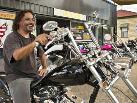 Darrell Wollstein, manager of JC's Custom Motorcyles.