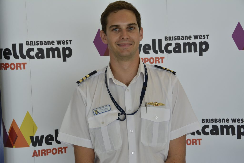 Airline Academy of Australia flying instructor Troy Lane. Photo Andrew Backhouse / The Chronicle