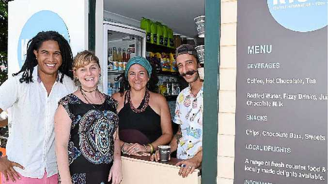 KIOSK: The team behind Byron Bay's newest cafe, from left, Jerome Sullivan, Jodi Van Der Linden, Catherine Timpson and Peter Pedaci.