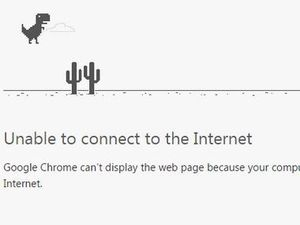 Can't connect to the internet? Chrome's game might help