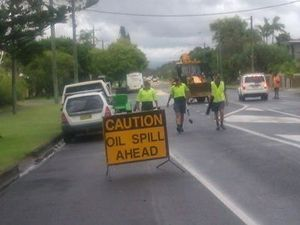 Ewingsdale Road closed due to oil spill