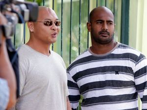 Andrew Chan and Myuran Sukumaran tied to crosses and shot