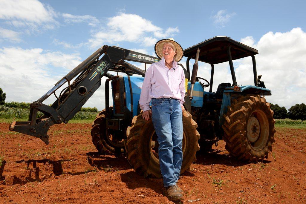 Michelle Kettle on the farm in Cudgen. Photo: John Gass / Tweed Daily News