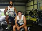 LEARNING CURVE: Rod Griffin (left) and Carlin Anderson are back at Ipswich Jets training after a pre-season spent with the Brisbane Broncos.