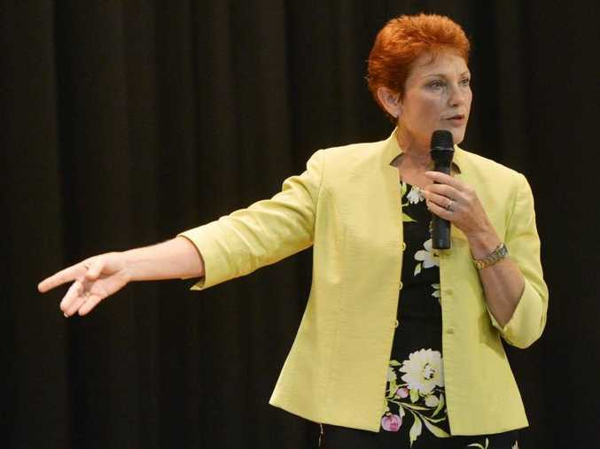 STILL FIGHTING: One Nation leader Pauline Hanson believes she still has a chance of winning the seat of Lockyer.