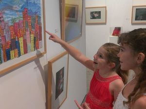 Sisters show off their artistic talents in exhibition