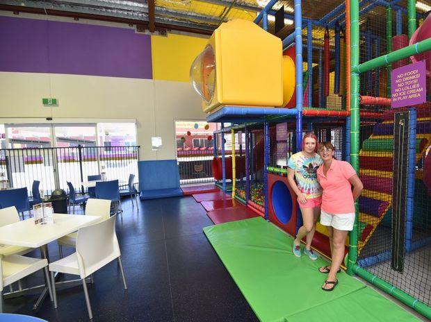 Rhiannon Ward and Sandra Dawson at the Kidzone Play Centre in Pialba.