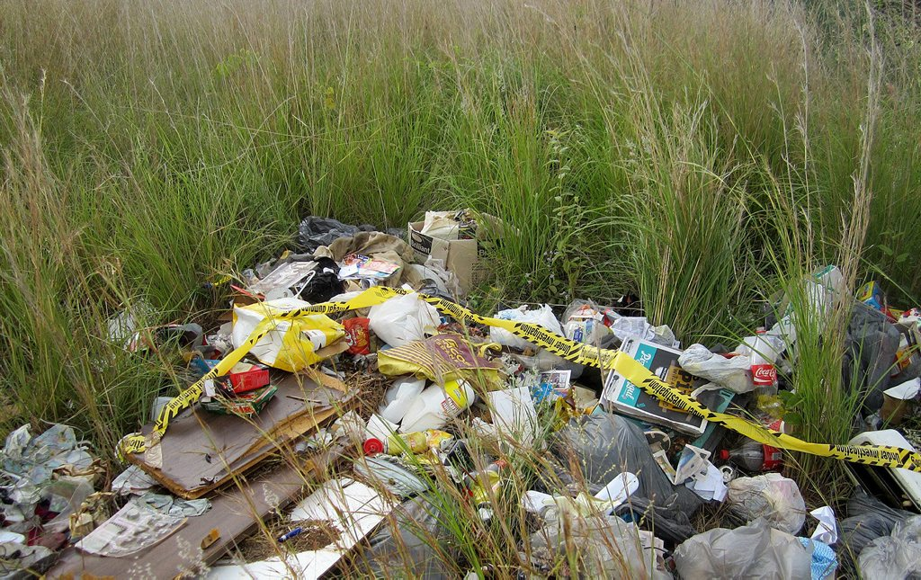 A recent case of illegal dumping proved costly for one person who was fined after leaving this household rubbish in local bushland.