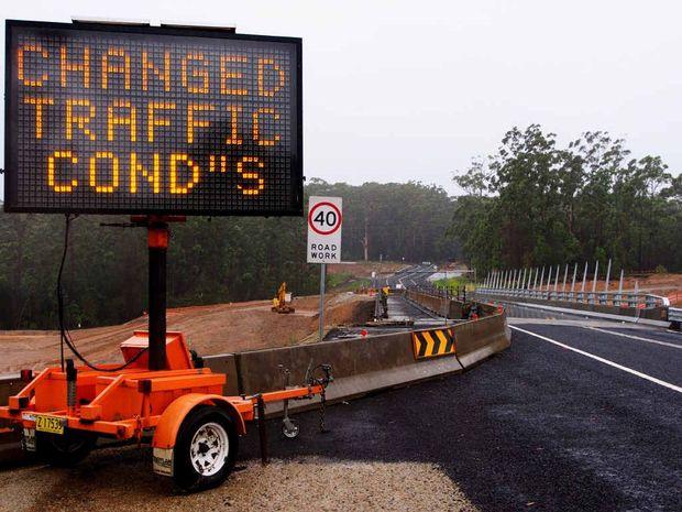 NOW OPEN: The Ballards Rd interchange bridge.