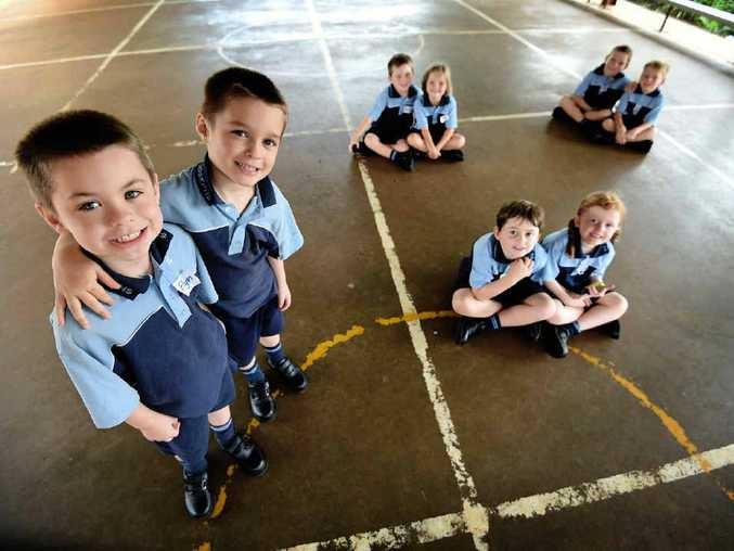 SEEING DOUBLE: There are four sets of twins starting kindergarten at St Joseph's Primary School, Alstonville, including Cooper and Riley Braz, Madeleine and Reuben Donnelly, Flyn and Lachlan Smith and Eden and Oliver Kelly.