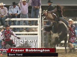 Fraser Babbington's bull ride in Rockhampton