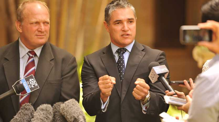 Dalrymple MP Shane Knuth and MP for Mt Isa Robbie Katter.