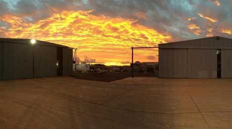 This stunning picture was taken from the Careflight base at the Toowoomba Airport. Paramedic Anthony Clark took the photo as he was putting the chopper to bed.