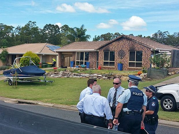 A house on Deebing Creek Rd at Yamanto has been cordoned off while investigations take place after a fire on the property on Wednesday morning.