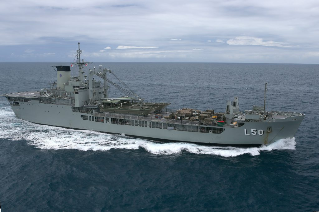 The cargo ship HMAS Tobruk may be scuttled in the Great Sandy Strait in a few years.